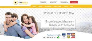 Novo site da CWB Redes de Proteção